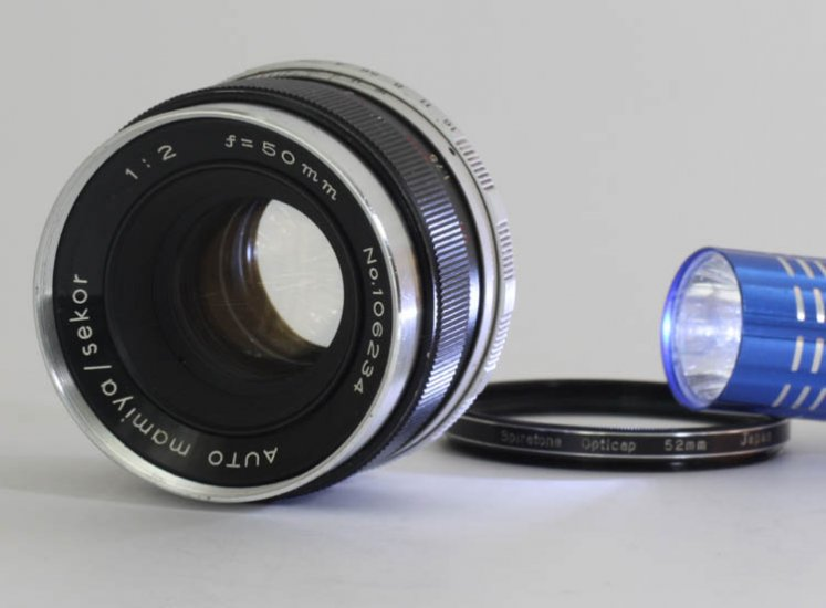 AUTO mamiya sekor 50mm F/2.0 Standard Lens Silver nose M42 screw - Click Image to Close