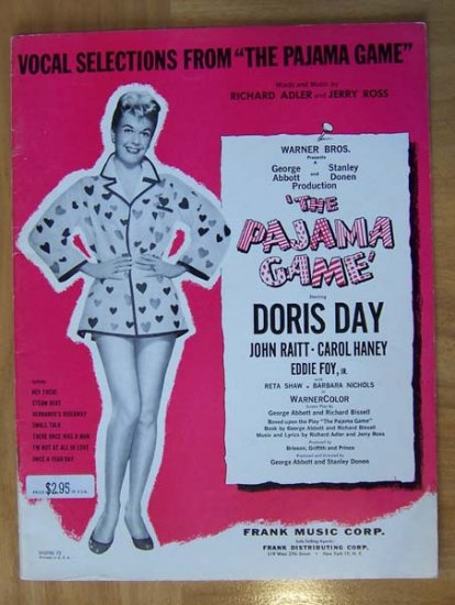 1954 songbook sheet music Vocal Selections from The Pajama Game - Click Image to Close