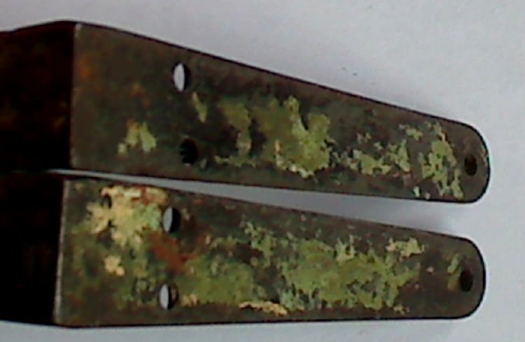 Antique Small Cast Iron Wall Shelf Brackets 4x5 inches Victorian - Click Image to Close
