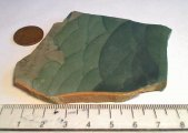 Green Picture Jasper clouds or hills, cabochon slab, 5 mm