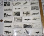 Set of mini real photo WWII US Army Air Corps Planes