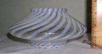 Opalescent Spiral Glass Shade for Kitchen / Bath Ceiling Fixture