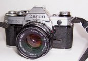 Vintage Canon AE-1 35mm Film Camera SLR 50mm f1.8 lens