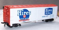 HO Scale Tyco Hires Root Beer Box Train Car #180-T646D