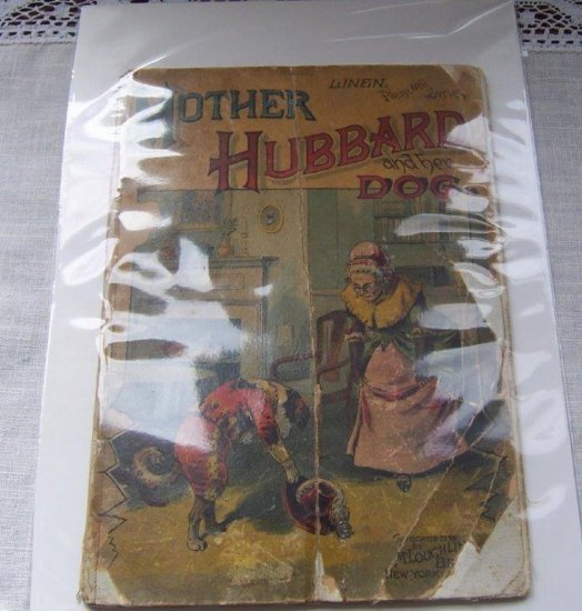 1890 McLoughlin Mother Hubbard and Her Dog Linen Children's Book - Click Image to Close