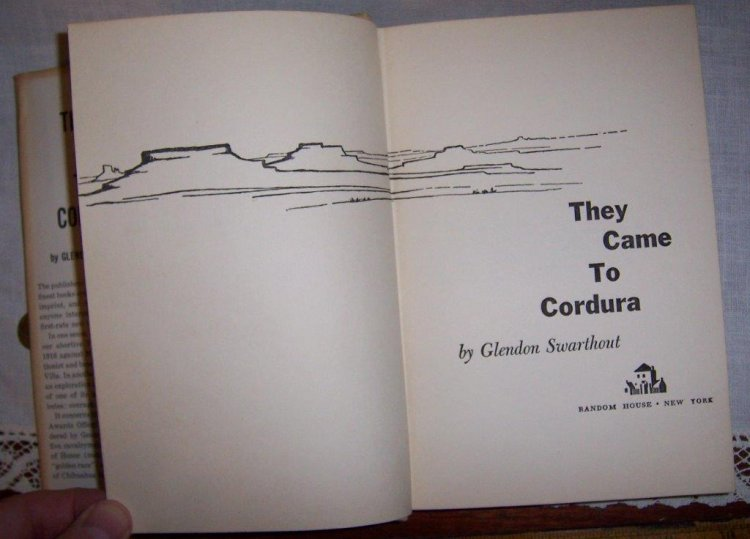 They Came to Cordura Swarthout 1st edition 1st print RCA Promo - Click Image to Close