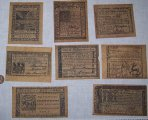 8 Continental Currency Colonial Era 1776 replica paper money