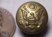 US General Service Great Seal Cuff Button Greenwood Mich 105A