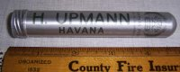 H. Upmann Cuban Cigar Holder Tube Humidor Container Havana Cuba