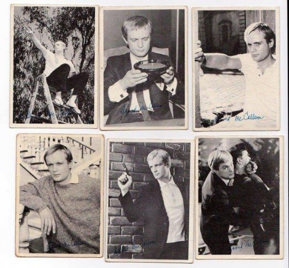 6 Topps 1965 Man from Uncle Cards Illya Kuryakin David McCallum - Click Image to Close