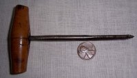 Antique Gimlet, small wood hand drill auger 1/4 in. 19th Century