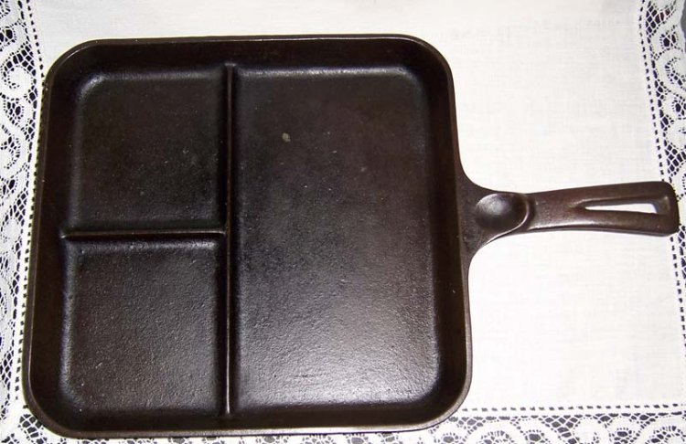 Vintage Wagner Ware Cast Iron Bacon Egg Breakfast Skillet 1101C - Click Image to Close