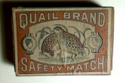 Vintage or Antique Quail Brand Safety Match Box