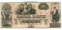 1850s New Orleans, LA Louisiana Canal Bank $20 Note