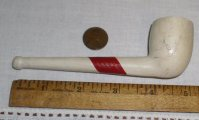 Old Meerschaum Cash Prize Clay Pipe Red Label Unused