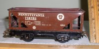 1930s Marx Tin O-Gauge Train Hopper Car, Pennsylvania 738701