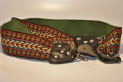 "Vintage Camera Strap Adjustable Woven Front 2"" Wide Hippie style"