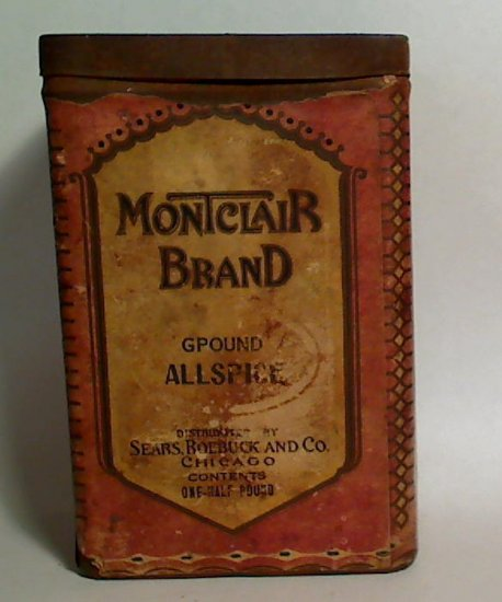 Montclair Brand Tin Allspice Sears Roebuck & Co Kitchen - Click Image to Close