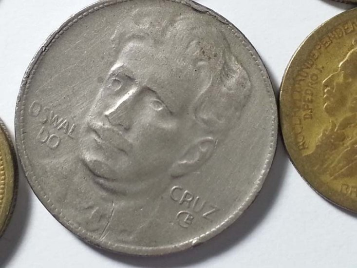 Brazil coin lot: 1901 200 Reis to 1970 50 Centavos - Click Image to Close