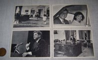 Four Topps 1964 JFK Collector Cards President John F Kennedy