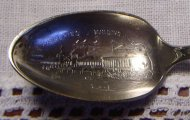 1893 Columbia Exposition Worlds Fair Silverplate Spoon Fisheries