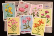 San Marino 1971 MNH flower topicals postage stamps, SC#758
