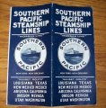 1930 Southern Pacific Steamship Lines Brochure Timetable Morgan