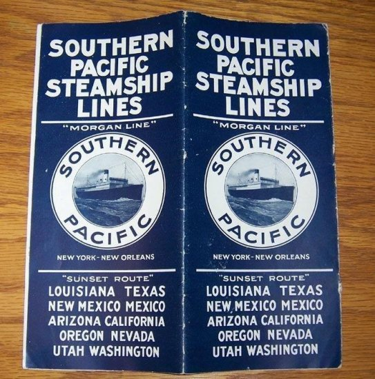 1930 Southern Pacific Steamship Lines Brochure Timetable Morgan - Click Image to Close