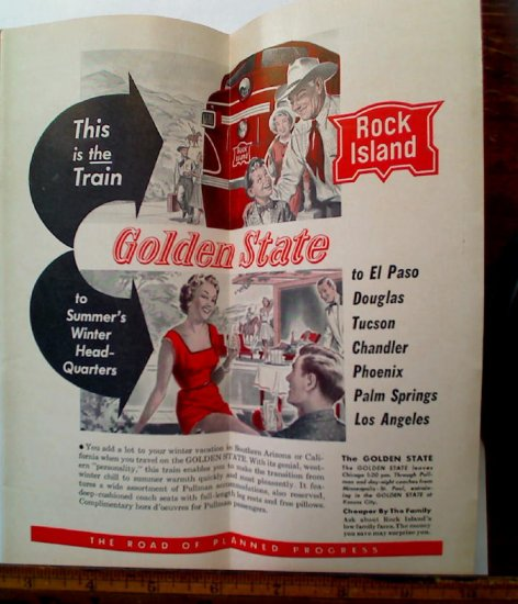 1955 ROCK ISLAND Rockets Railroad Time Table Chicago Timetable - Click Image to Close