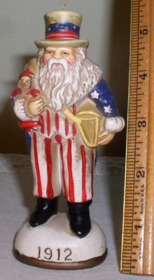 1912 Memories of Santa Collection Uncle Sam Santa by Don Warning - Click Image to Close