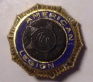 American Legion Pin Tack, gold plated, old unused stock