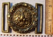 Original 1850 Civil War Navy Belt Plate Buckle Tongue and Wreath