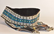 "70s Vintage 2"" Wide Camera Strap Woven embroidered style suede"