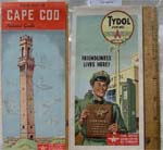 1950s Tydol Cape Cod Road Map