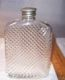 1927 Glass Whiskey Flask, attractive spiral pattern