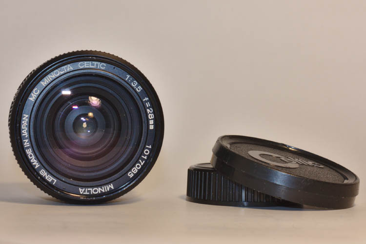Minolta MC 28mm f3.5 Celtic Lens MD mount Wide Angle Vintage - Click Image to Close