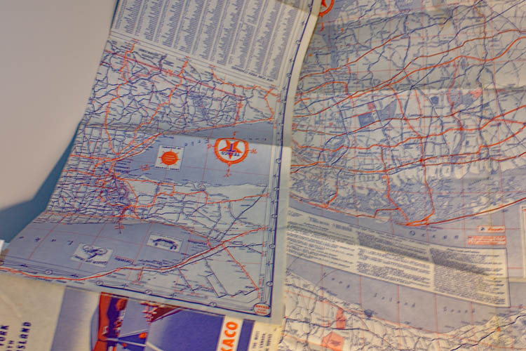 Texaco 1953 Road Map of New York State and Long Island - Click Image to Close