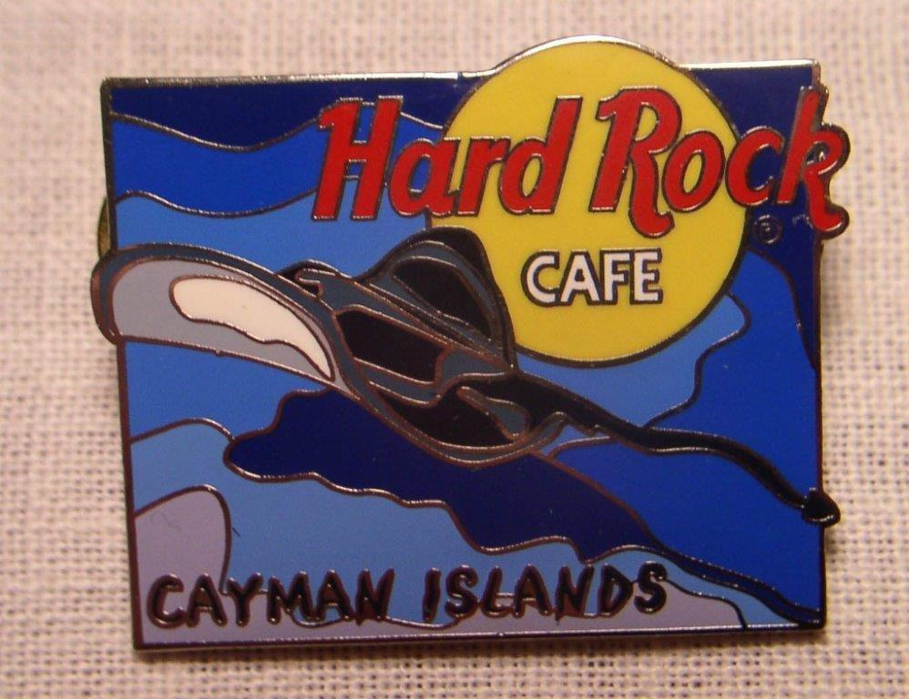 Hard Rock Cafe CAYMAN ISLANDS Manta Ray Pin - Click Image to Close
