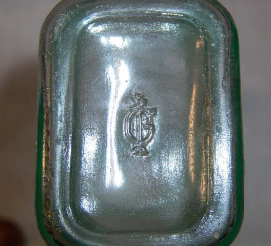 1940s Bottle Happy Birthday to You International Glass Aqua - Click Image to Close