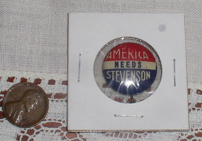 Adlai Stevenson presidential Political campaign button - Click Image to Close