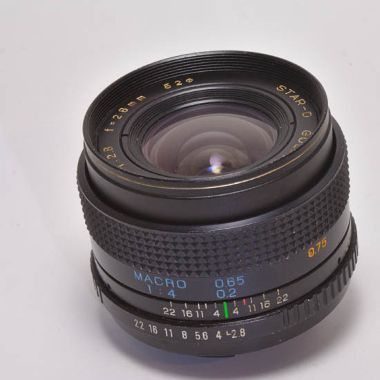 Star-D Gold Line 28mm 2.8/f Wide Macro 1:4 Lens Japan Pentax K - Click Image to Close