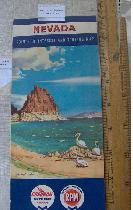 1958 Road map - Chevron Nevada, Pyramid Lake Cover, Touring Map