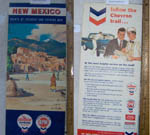 1958 Taos, New Mexico Chevron Road Map