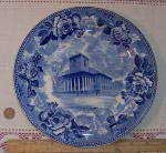 Wedgwood souvenir plate of Kings Chapel in Boston, MA